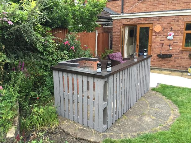 rustic garden bar