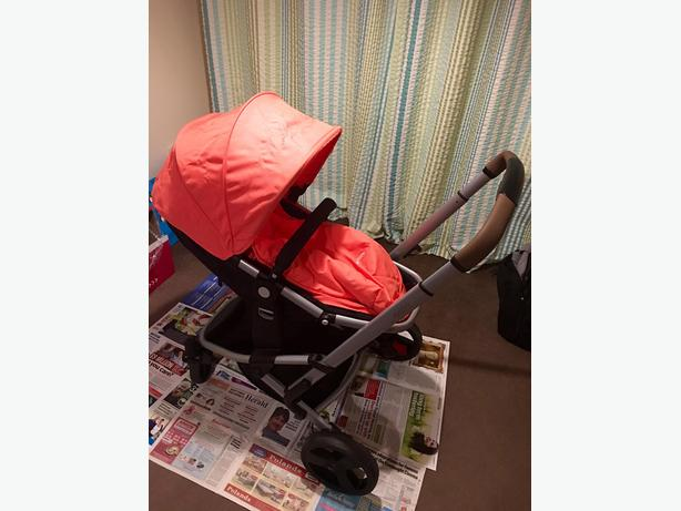 mothercare xpedior with coral colour pack & carseat
