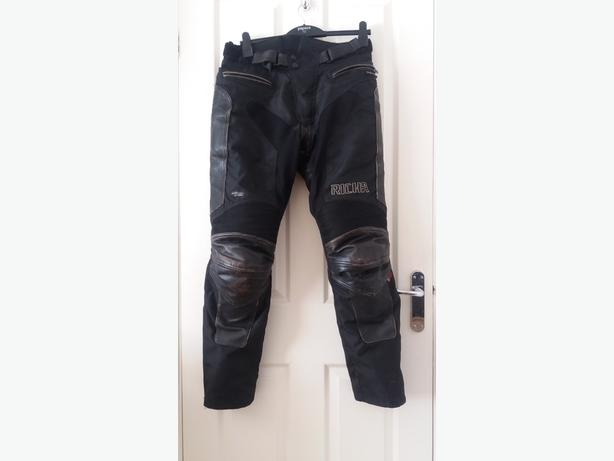 Richa Leather and textile motorbike trousers Medium.