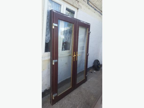 Upvc doors in dudley mobile for Brown upvc patio doors