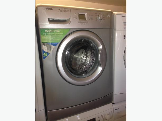 SILVER BEKO LCD WASHING MACHINE WITH GUARANTEE