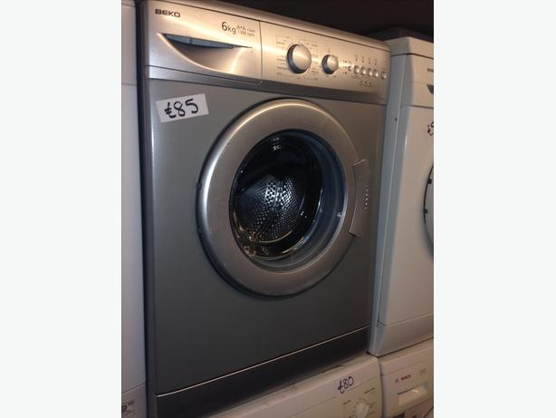 6 KG BEKO SILVER WASHING MACHINE WITH GUARANTEE