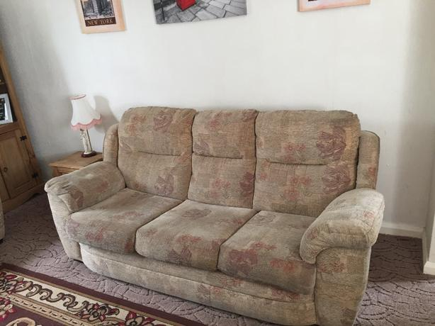 3 seater sofa and 2 arm chairs.
