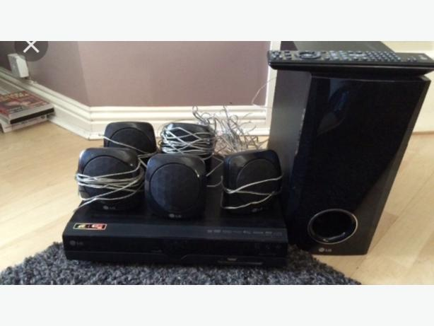 lgsurround sound dvd player and subwoofer