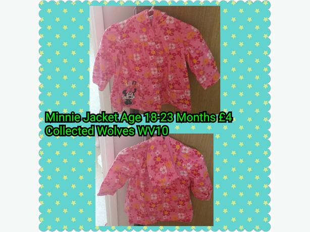 Minnie Mouse Jacket 18-23 Months.