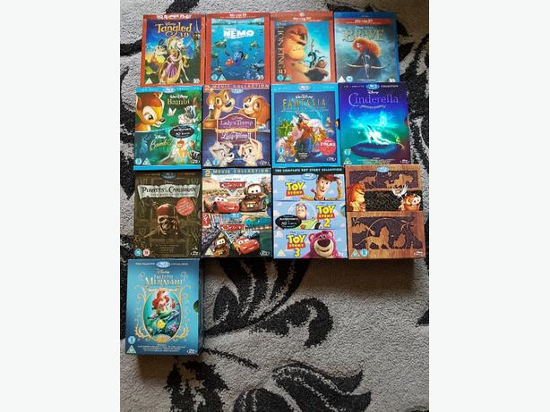 DISNEY BLU RAY COLLECTION 69 FILMS AND SHREKS