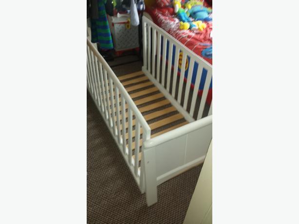baby's white cot