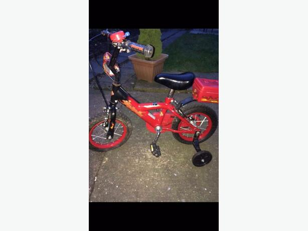 boys small red bike