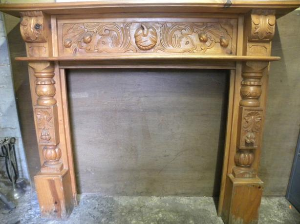 Solid Pine Ornate Fire Surround