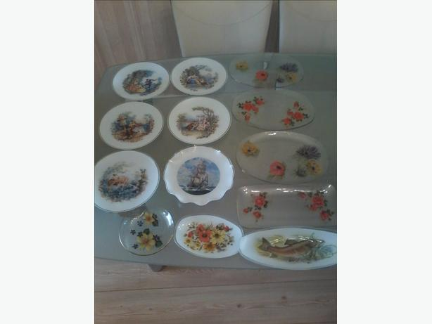 chance glass plates (joblot)