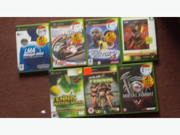 20dvds and 6 xbox ganes