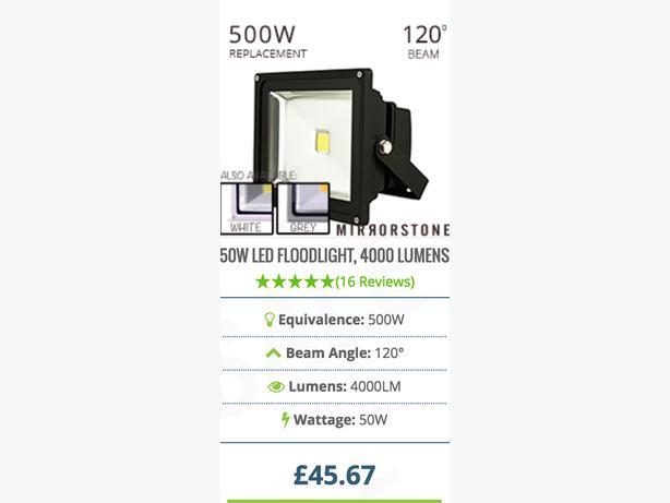 BRAND NEW Led Floodlights, 10W 20W 50W LED