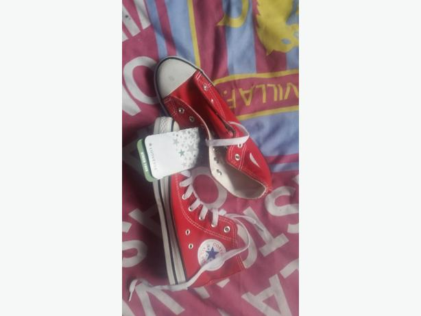 brand new red converse trainers  size 3.5