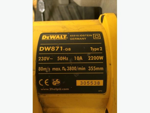 DeWALT DW871 240 Volt Metal or Stone Chop Saw