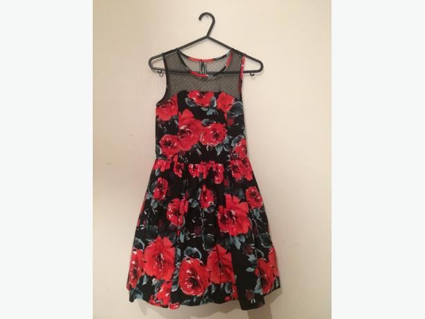 childrens red rose dress