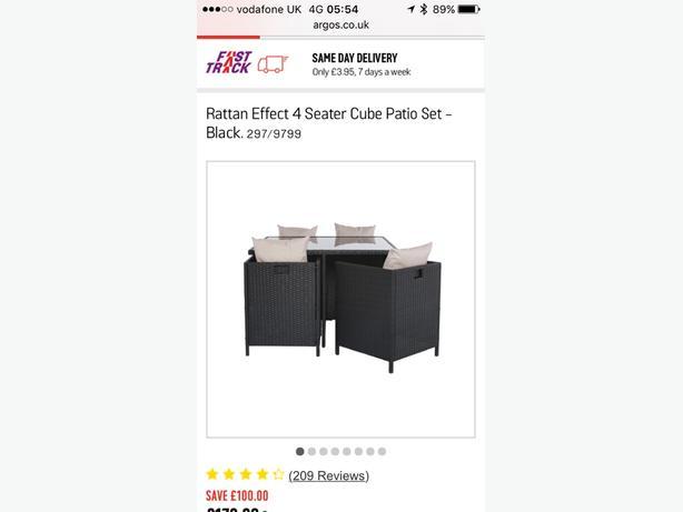 rattan cube garden furniture excellent condition
