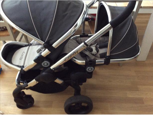 Icandy peach 3 truffle double pram