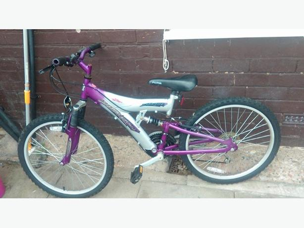 "girls 24"" full suspension bike"