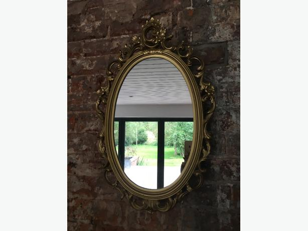 elegant gold ornate mirror