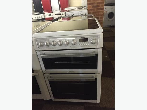 HOTPOINT 60 CM WIDE DOUBLE OVEN- WITH GUARANTEE