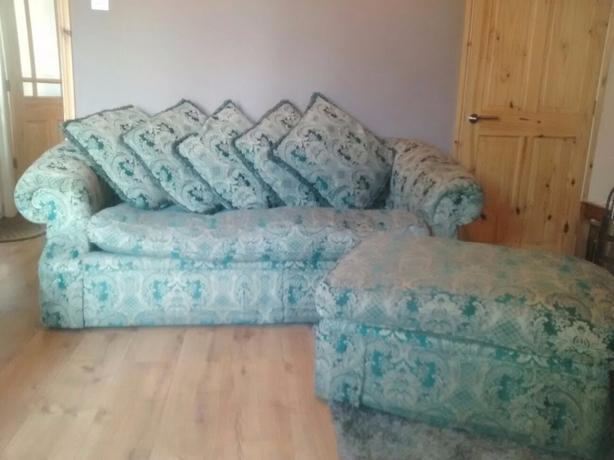 Sofa and Pouffe