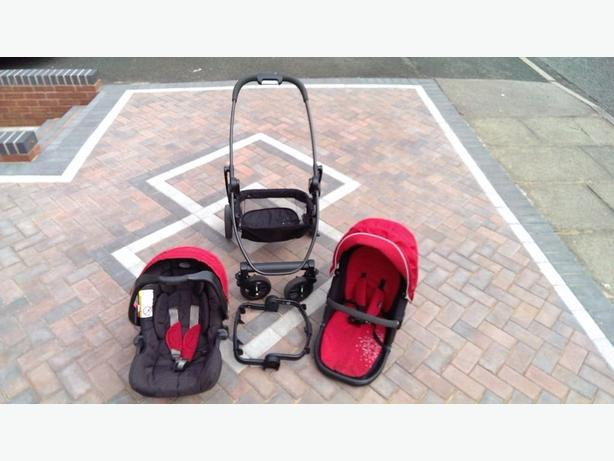 Graco EVO Travel System. Chilli Red colour. Light/1-Hand Fold/Car Seat/Stroller