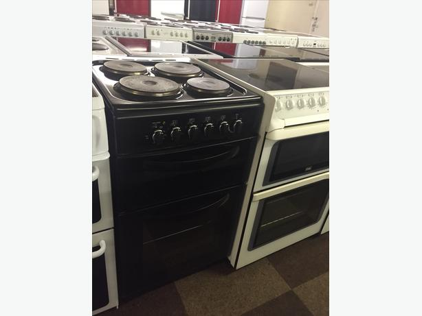 BLACK 50 CM ELECTRIC COOKER £90 WITH GUARANTEE