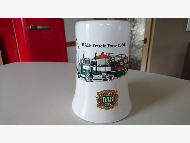 VINTAGE 1989 COLLECTABLE MEMORABILIA DAB TRUCKERS TOUR LARGE TEA COFFEE MUG