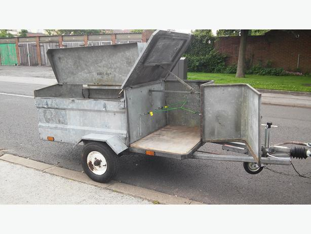TRAILER GALVANISED BRAKED CAMPING FISHING WORK BUILDERS DIY