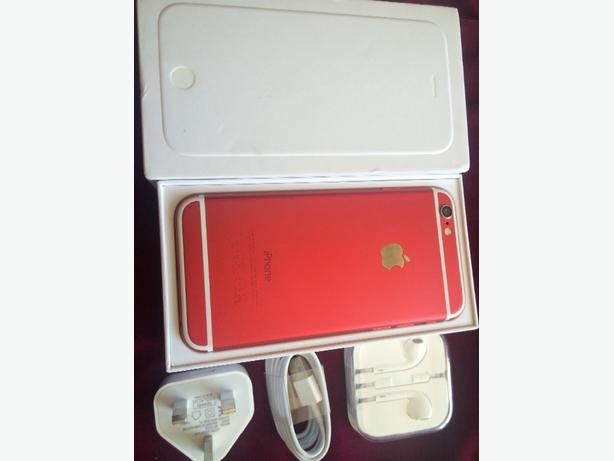 iphone 6 16gb red customised ( pristine condition)