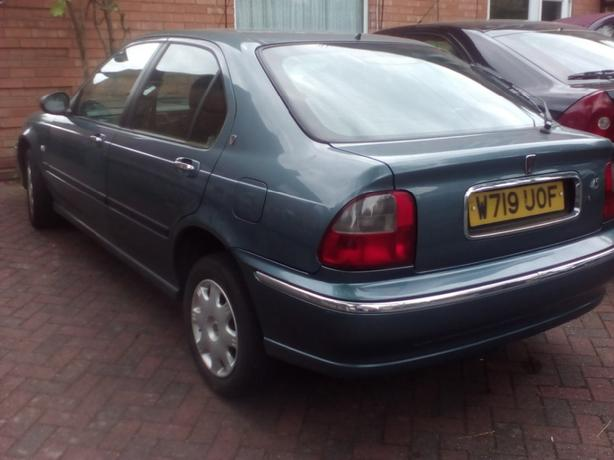 rover 45 1.4cc long mot shows taxed