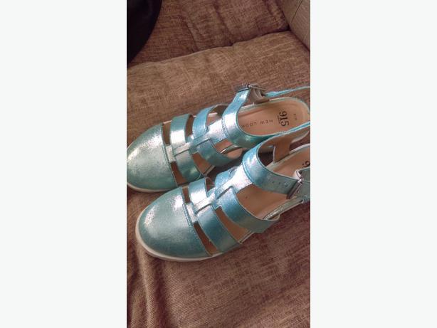 blue heeled sandals