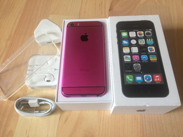 iphone 5s 32gd customised hot pink/ black( pristine)