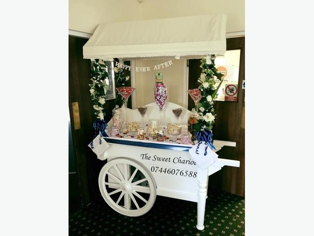 large candy cart