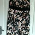 Charcoal multi waist wrap dress