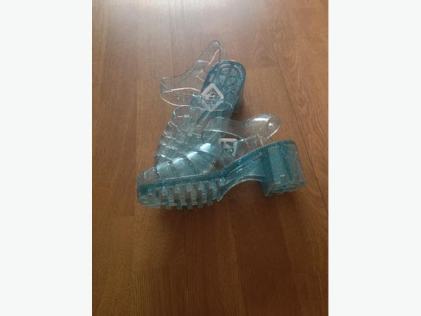 Blue Sparkly Jelly Shoes