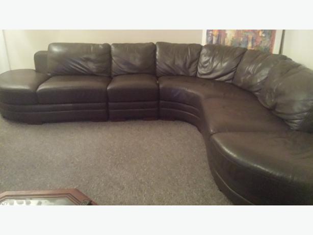 9 Seater Leather Corner Suite