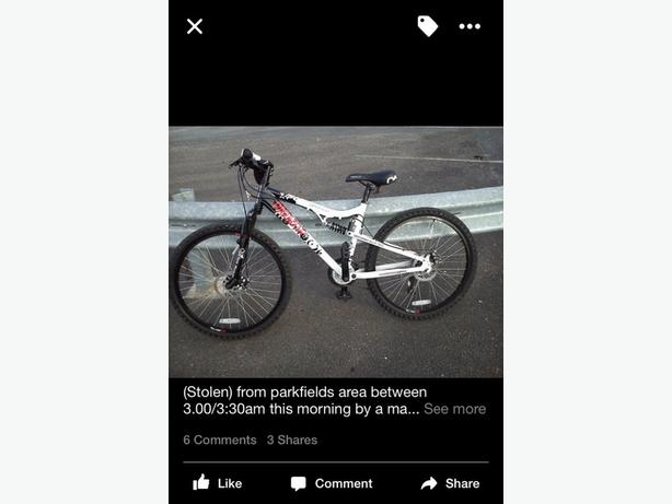 FREE: mountain bike (STOLEN)