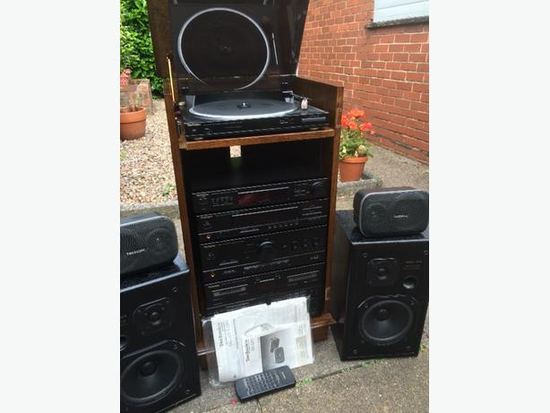 technics stacker with speakers