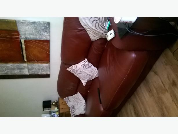 Large settee & storage foot stool.