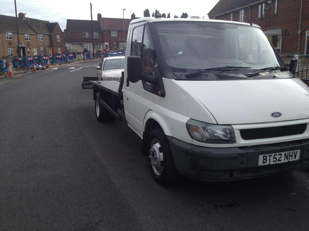 52 plate ford transit recovery