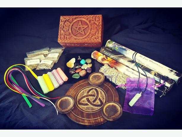 Witchcraft starter set / wiccan / pagan