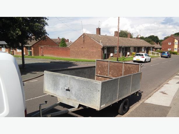 TRAILER GAVLANISED DOUBLE REAR RAMP RIDE ON QUAD MOWER WORTH A L@@K