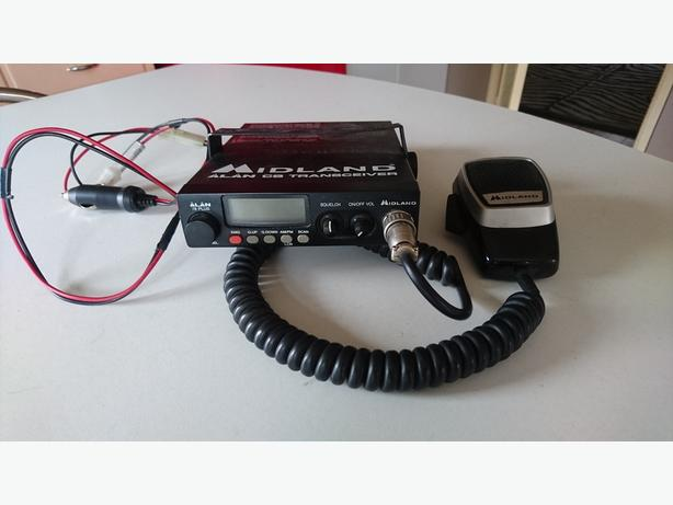 MIDLAND ALAN 78 PLUS CB RADIO TRANSCEIVER 12 VOLT + FITTINGS WORKS VGC