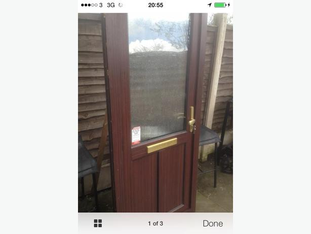 Upvc brown door walsall dudley for Brown upvc door
