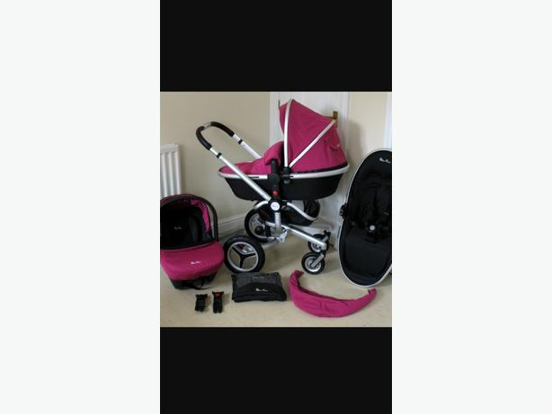 Rasberry Silvercross Surf Pram Set