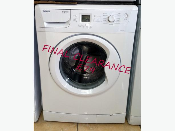 **FINAL CLEARANCE SALE ON WASHING MACHINES - PRICES FROM £60**
