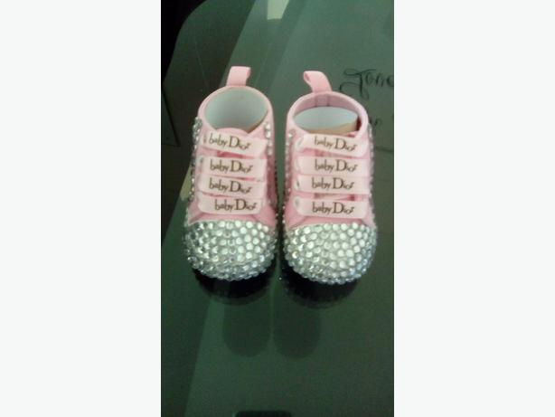 hand knitted sets and baby dior pumps