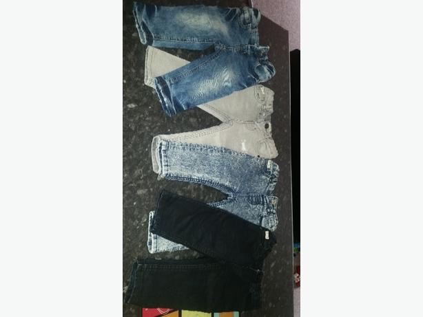 4 pairs of River Island 12-18months skinny jeans