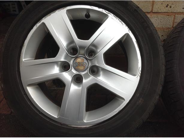 "16""Audi alloys with tyres"